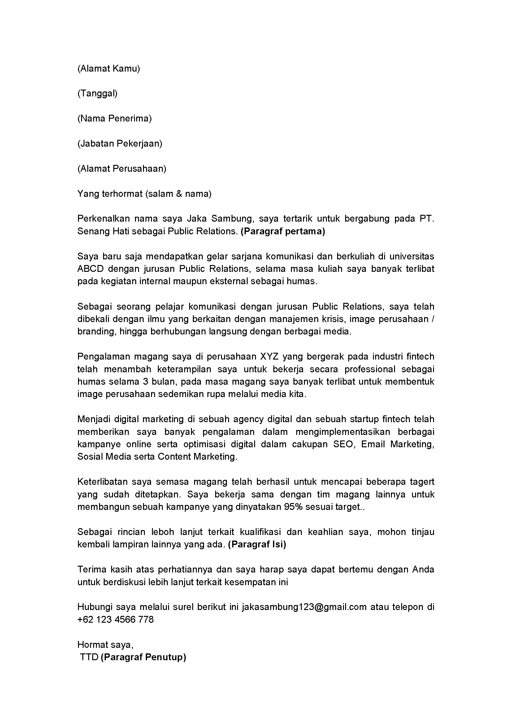 Cover Letter Ex Page 1