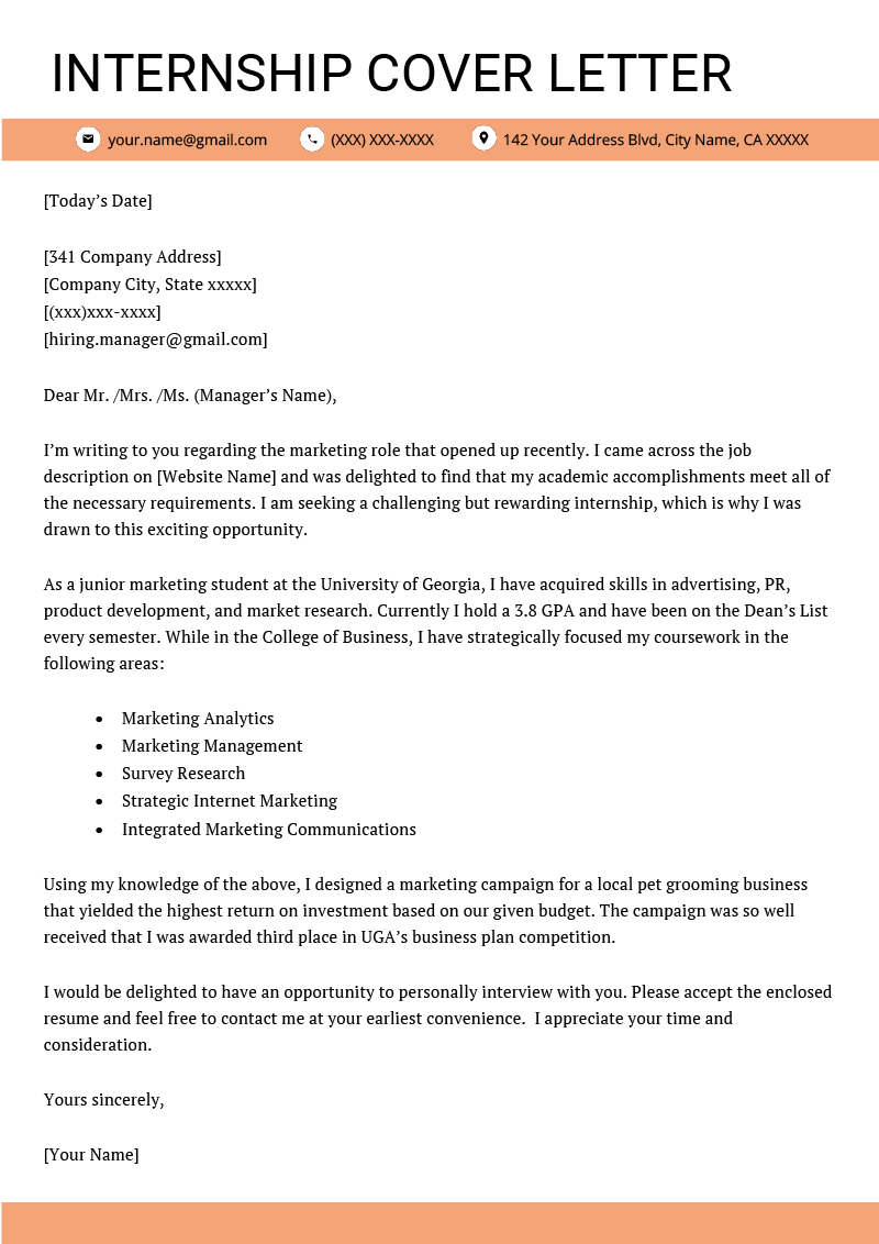 Cover Letter Example College Student from glints.com