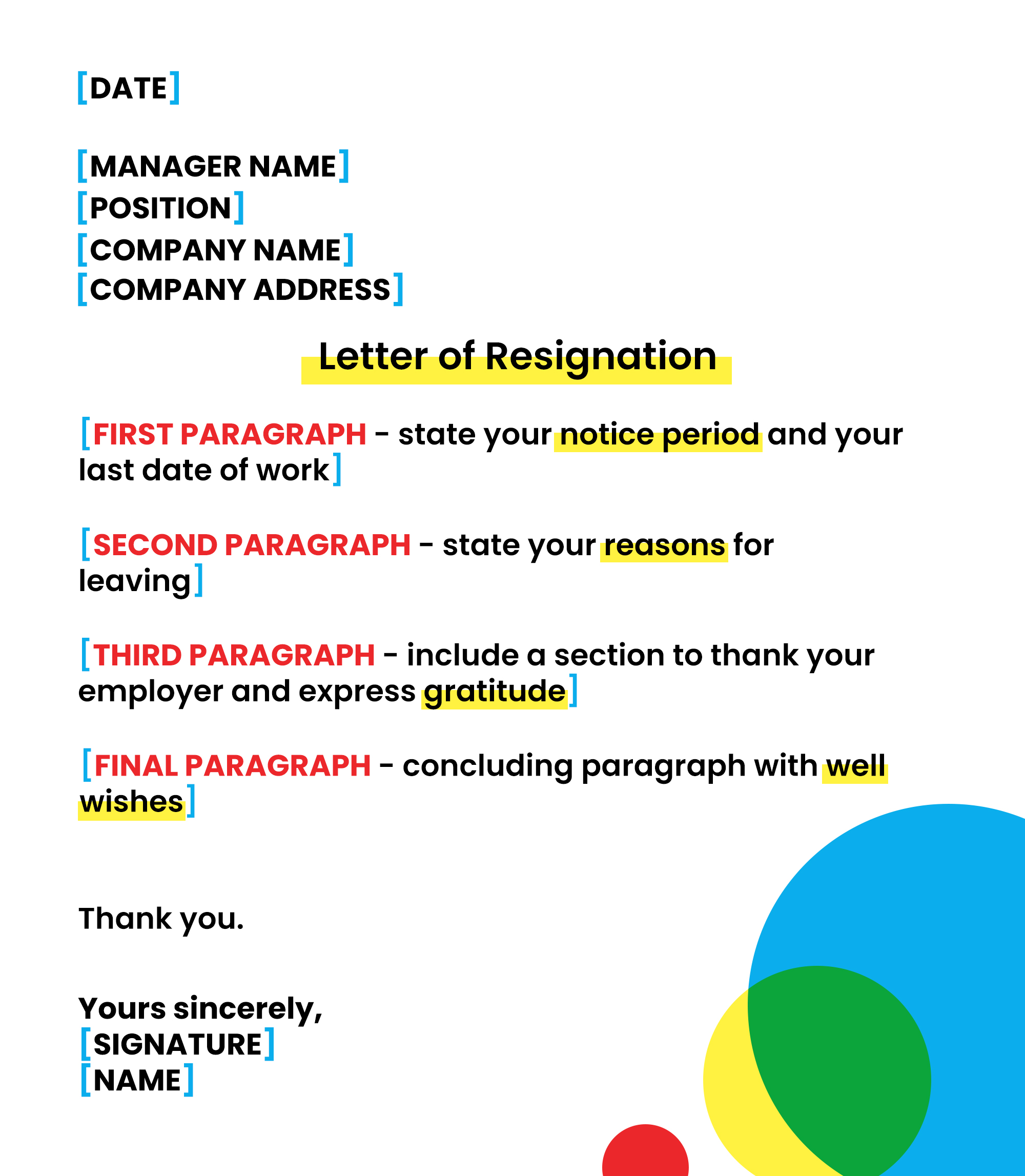 resignation letter and more