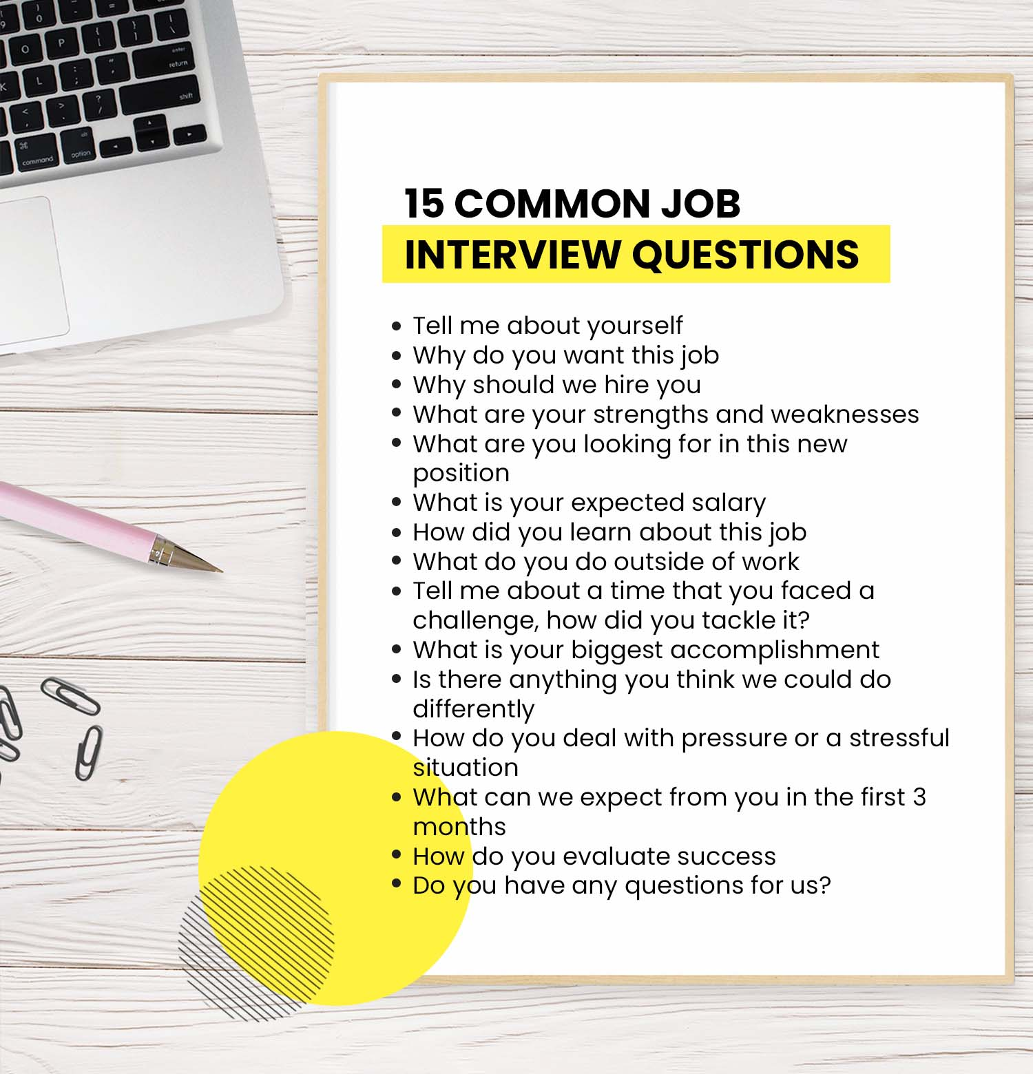 15 common job interview questions you'll be asked—and how to